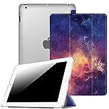 Fintie iPad 2/3 / 4 Hülle - Ultradünne Superleicht Schutzhülle mit Transparenter Rückseite Abdeckung Cover mit Auto Schlaf/Wach Funktion für Apple iPad 2 / iPad 3 / iPad 4 Retina, DieGalaxie