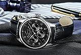 PARNIS Complication 2110 Automatik Herrenuhr Edelstahl-Armbanduhr Lederarmband MIYOTA Schnellschwinger Kaliber 9100 mit Vollkalender und Gangreserve-Anzeige - 4