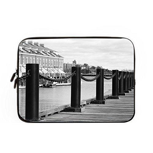 chadme Laptop Hülle/Tasche Boston Port Brücke Wasser Notebook Sleeve Cases mit Reißverschluss für MacBook Air 12 zoll (Ny Laptop-tasche Built 17)
