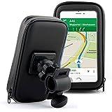Bolsa de bicicleta impermeable y soporte, negro, para fijación en el manillar o en tubo superior, disponible en diferentes tamaños (pequeño, mediano, grande) para iPhone, Samsung y otros negro Talla:large