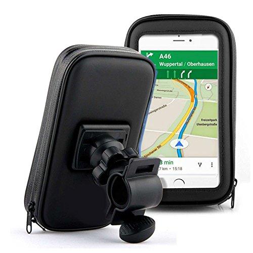 Fahrrad Rad Tasche ideal für Komoot Fahrrad GPS und andere Apps - Schutzhülle Handy Smartphone Navigation Bike Tour Fahrrad Motorrad Wasserfest geeignet für Apple iPhone, Samsung Galaxy uvm. (XL) (Fahrrad-rad-tasche)