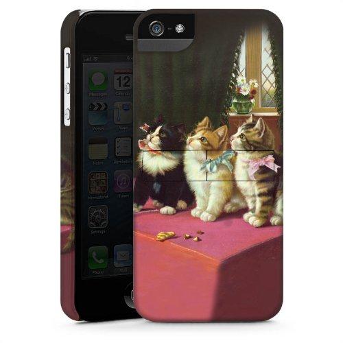 Apple iPhone 4s Housse Étui Silicone Coque Protection Paul Klee Des chats et un perroquet Art CasStandup blanc