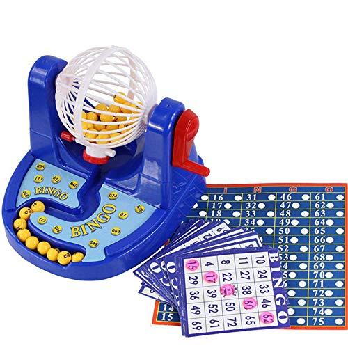 Bingo Spielset, LANDOR Bingo Spielzeug Set Simulation Lottery Machine Spiel Kinder Puzzle Tabletop Spielzeug Familie Bingo Set
