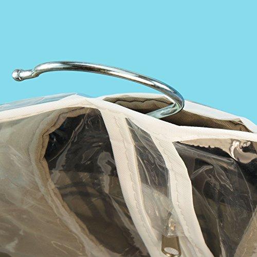 6 wasserabweisende Kleidersäcke - Transparent mit Weißem Saum - 100cm - Hangerworld