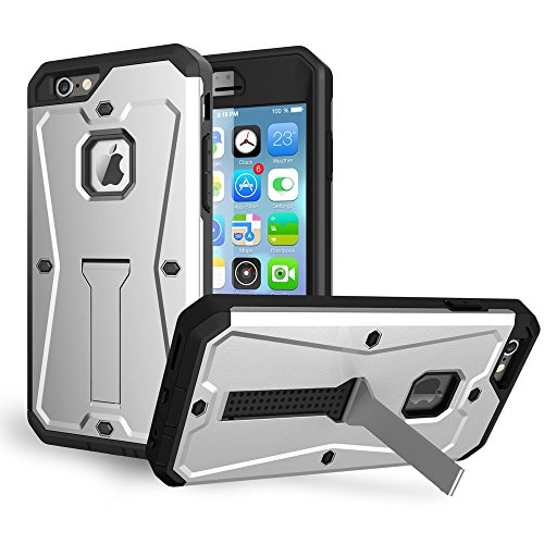 JIALUN-Telefon Fall IPhone 6s Plus Fall, PC + TPU abnehmbares 3 in 1 rückseitige Abdeckung Kühler Telefonkasten ( Color : Silver , Size : Iphone 6s Plus ) Silver