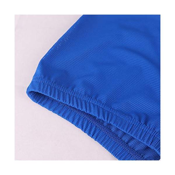 51c7xOm3RBL. SS600  - Hombres Extremo Malla Pantalones Cortos con Grande División Lados Ropa Interior Bóxers Bragas Slips