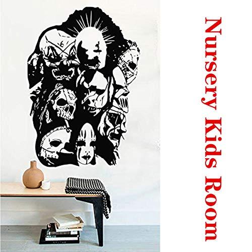 xingbuxin Wandtattoo Logo Maske Rockmusik Art Decor Home Decor Abnehmbare Vinyl Living Abnehmbare Kinderzimmer Wandaufkleber weiß 58 X 83 cm