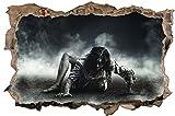 Zombie Frau Fantasy Horror Wandtattoo Wandsticker Wandaufkleber D1164 Größe 120 cm x 180 cm