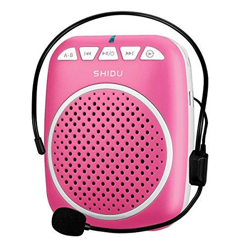 Zoweetek® Amplificador de voz portátil ultraligero con clip de cinturón, formato MP3 Audio para guías, profesores, entrenadores, presentaciones, Etc.