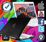 APPLE MACBOOK POWERFUL 1TB HDD 4GB RAM A1342 MAC OS SIERRA WEBCAM LAPTOP BLACK - MAXIMUM COMPUTERS