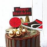 JeVenis Set 3 Stück Basketball Kuchen Topper NBA Sterne Kuchen Topper Basketball Schuhe Kuchen Topper für Jungen Geburtstag Mann Geburtstag Dekoration
