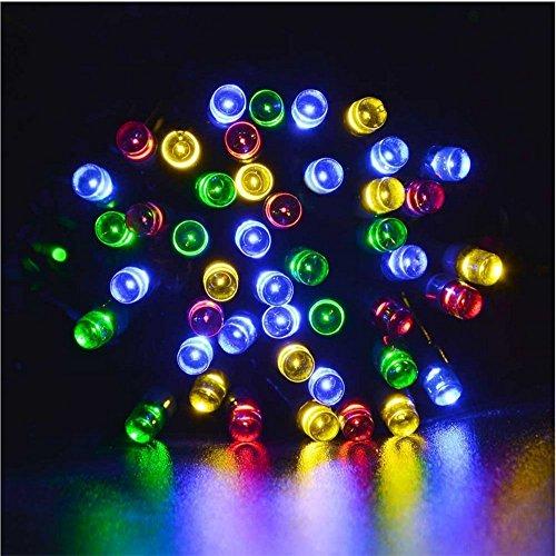 Solar Lichterkette 12m 100 LED 8 Modi Außenlichterkette Wasserdicht mit Lichtsensor Weihnachtsbeleuchtung Beleuchtung für Haushalt Außen Garten Hochzeit Weihnachten(vier-Farben) (IP65)