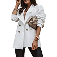 Onsoyours Donna Giacca Blazer Manica Lunga Colletto Cappotto Elegante Ufficio Business Blazer Top Tinta Unita Slim Fit…