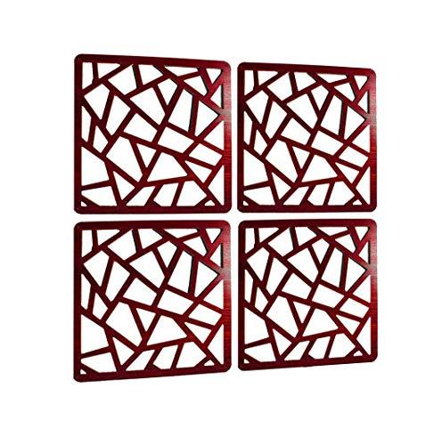 LRZCGB Divisor de habitación para Colgar, 4 Paneles de Madera de Moda Simple decoración del hogar