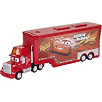 Disney CDN64 Pixar Cars Toy Mack Truck Playset, Lightning McQueen Story Sets (Rust-eze)
