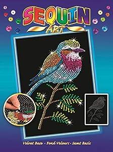 Sequin Art Mammut 8041806 - Kit de creación de Lentejuelas (Marco de poliestireno, Lentejuelas, lápices, Instrucciones para niños a Partir de 8 años), diseño de pájaro