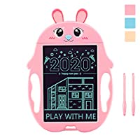 Hongkit Toys for 1-5 Years Old Kids,Upgrate Cartoon Rabbit Character LCD Drawing Board Writing Tablet doodle Pad with 2 Stylus Pen for Boys and Girls - Best Gift for Preschool Learning Toys
