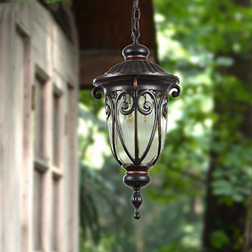 Outdoor-Leuchten Vintage Wasserdichte Pendelleuchte Aluminium Kronleuchter Garten Korridor Balkon LED-Licht