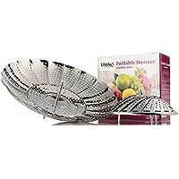LIHAO verdura Steamer Basket pieghevole vapore in acciaio inox - Dimensioni: grande