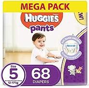 Huggies Pants, Size 5, 12-17 kg, Mega Pack, 68 Diapers