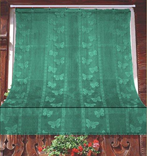 Tenda Zanzariera Jacquard Disegno Farfalla Resistente Antimosche 100% Poliestere misura 150x250 cm Colore Verde