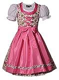 MADDOX Alpenfeeling Kinderdirndl Jugenddirndl Teeniedirndl Zermatt Pink Rosa Trachtenset 3tlg. inkl. Schürze und Bluse