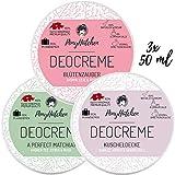 3x 50 ml - Bestsellerset - Naturkosmetik Deo Creme ohne Aluminiumsalze - natürliches Deodorant - vegan - unisex