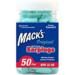 Mack's Ear Care Original Soft Foam Earplugs - Pack of 50 Pairs
