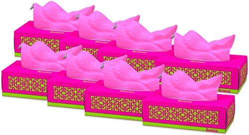 Renova Taschentücher Gesicht Red Label Fuchsie–80Tücher–[Pack von 8]