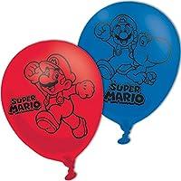 Amscan 9900743 11-Inch Super Mario Bros 4 Sided Latex Balloons