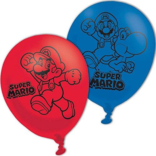 amscan 990074327,9cm Super Mario Bros 4-seitige Latex Luftballons