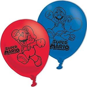 Amscan-990074311pulgadas super mario bros 4cara globos de látex