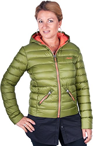 Almwerk Damen Daunenjacke mit Echter Daune in blau und grün, Größe Damen:L - Größe 40;Farbe:Grün - Apres Ski Fell