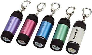 INTAY LED Mini Taschenlampe 5er Pack Wasserfest Blau Tragbare Taschenlampe fürs Freie