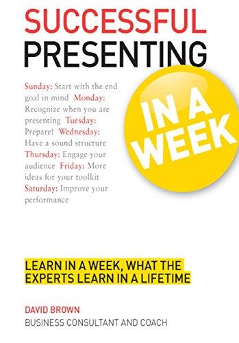 Successful Presenting in a Week: Teach Yourself (TYW)