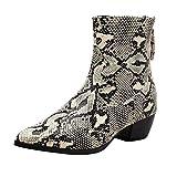 Mymyguoe Botas Mujer Otoño/Invierno Cuñas Botines con Cremallera Zapatos Tacon Ancho...