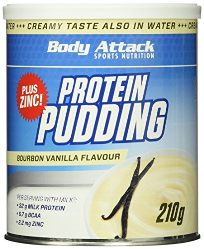 Body Attack Protein Pudding, Vanilla, 210g Dose (Dosen Pudding)