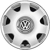 Original VW Polo Fox Radkappen (4 Stück) Komplettsatz 14 Zoll Radzierblenden Stahlfelgen Abdeckung Silber 6Q0071454