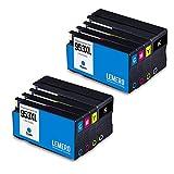 8 LEMERO Kompatibel HP 953XL 953 XL Druckerpatronen für HP OfficeJet Pro 8210 8218 8710 8715 8718 8719 8720 8725 8728 8730 8740 7740 wf Wide Format All-in-One, 2X Schwarz 2X Cyan 2X Magenta 2X Gelb