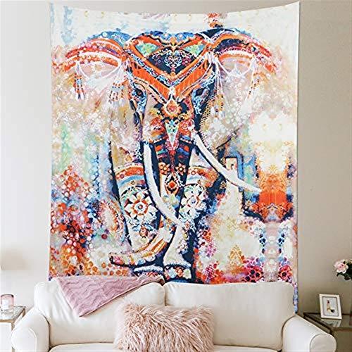 B-fengliu Tapiz Elefante Tapiz Tapiz Bohemio Decorativo Tapiz Decorativo Dormitorio Decorativo Sala de Estar Toalla de Playa Picnic Manta Flor Grande Naranja (Size : 153cm*203cm)