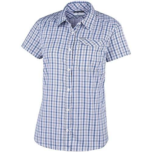 Columbia silver ridge 2.0 plaid shorts sleeve, hemd donna, white gingham, xl