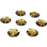 Packung mit 50 Strasssteinen in ovaler Form, Kunstharz-Kristalle von Eimass zum Aufnähen oder Aufkleben, mit flacher Unterseite, zum Verschönern von Kostümen, Taschen, Kleidung, Lernprojekten