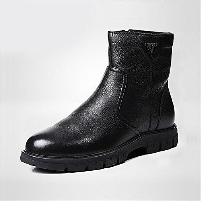 lixus Männer  casual mode stiefel  hohe stiefel  martin winter bangnan retro  chelsea  stiefel schwarz 41