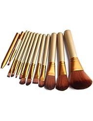 Ularma Belleza Pro Makeup 12pcs cepillo conjunto Powder Foundation Herramienta Pincel sombreador de Ojos Delineador de labios