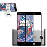 OnePlus 3 / OnePlus 3T : Protection d'écran FULL Cover en verre trempé - Tempered glass Screen protector 9H premium / Films vitre Protecteur d'écran One Plus 3 smartphone 2016 contour noir - Version intégrale avec accessoires - Prix découverte Accessoires XEPTIO