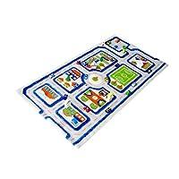 Little Helper 3D Childrens Play Rug in Town Traffic Design, Blue (80 x 100cm)