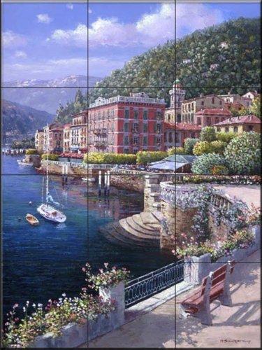 Fliesenwandbild - Am See in Bellagio - von Sam Park/Soho Editions - Küche Aufkantung/Bad Dusche