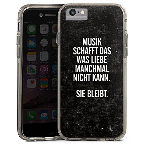 Apple iPhone X Bumper Hülle Bumper Case Glitzer Hülle Sayings Phrases Sprüche Bumper Case transparent grau