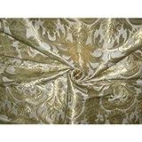 Brokat-Stoff Elfenbeinfarben & Gold 91,4cm -pretty.