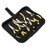 Salmue Professionale Jewelry Making Tools Kit, Rotondo Piegato Naso pinze Che borda Fare Gioielli Fai da Te Kit di Forniture per Adulti e Principianti 5pcs